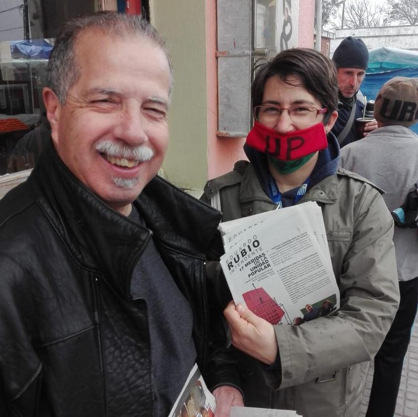 J. L. Vázquez y Romy Silva en el A