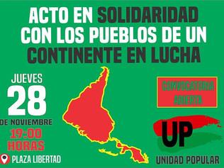 Unidad Popular seguirá en la calle y con los pueblos en lucha