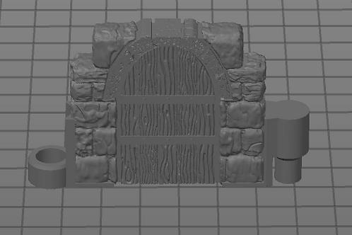 Porta Pequena Fechada Modular