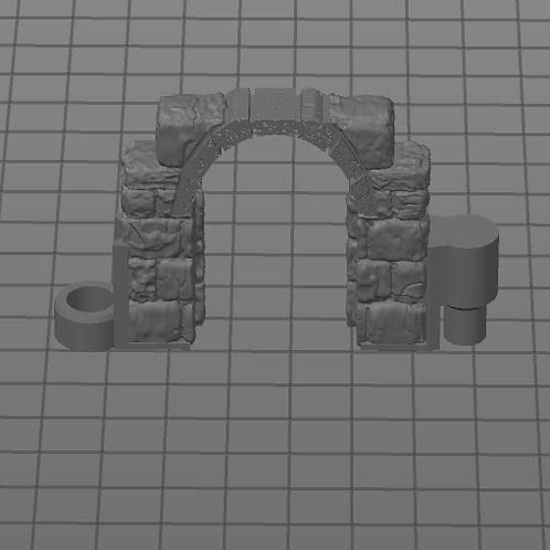 Porta Pequena Aberta Modular