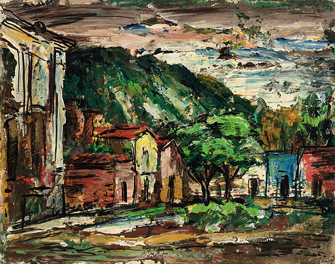 """San Miguel"" (#1) Rudolph J. Schmidt Original Oil Painting"