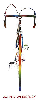 "John D Wibberley Cycle Art - Original ""Bike"" Print"
