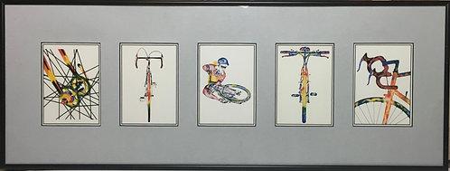 Framed Post Card Set - John D Wibberley Cycle Art