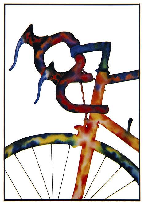 "Post Card John D Wibberley Cycle Art - Original ""Handlebars"""