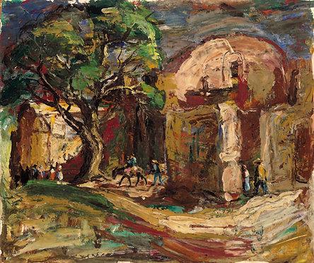 """Patzcuaro Mexico"" (#2) Rudolph J. Schmidt Original Oil Painting"