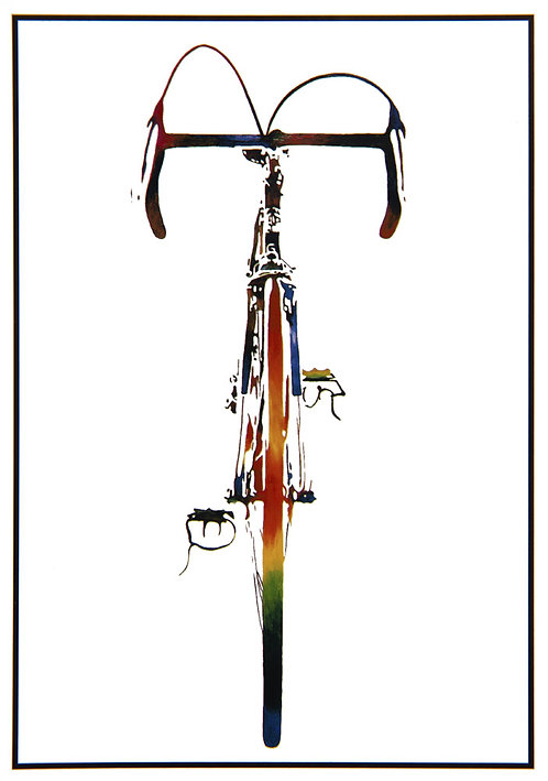 "Post Card John D Wibberley Cycle Art - Original ""Bike"""