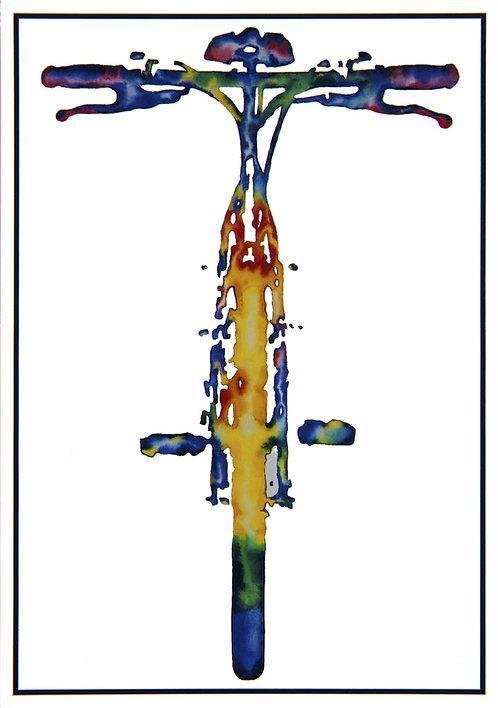 "Post Card John D Wibberley Cycle Art - Original ""Mountain Bike"""