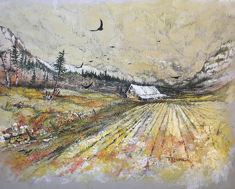 "Artist Tom Devine ""Mountain Cabin"""