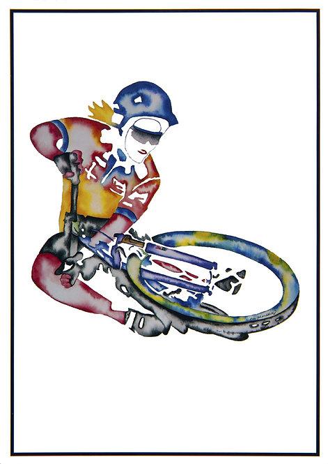 "Post Card John D Wibberley Cycle Art - Original ""Table Top"""
