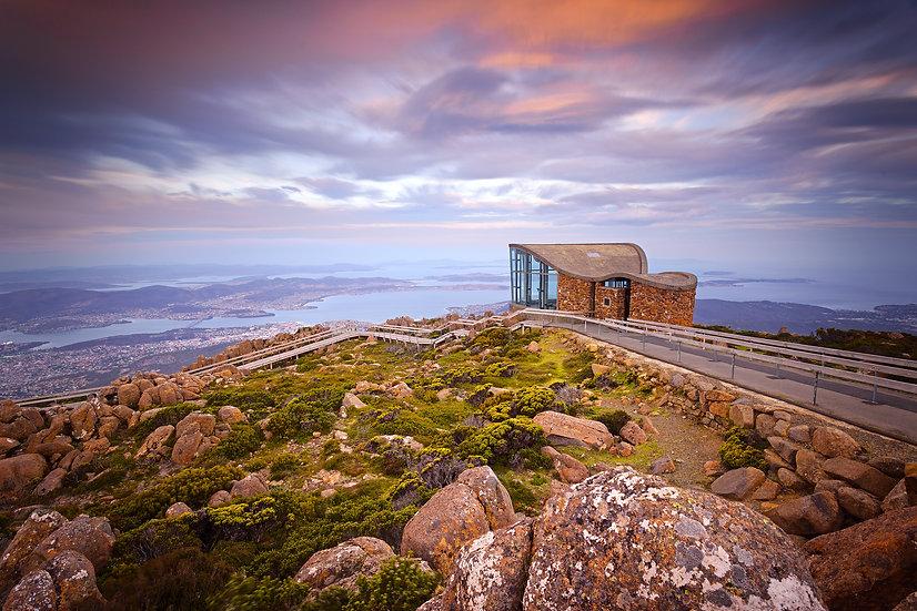 Sunset Mt Wellington