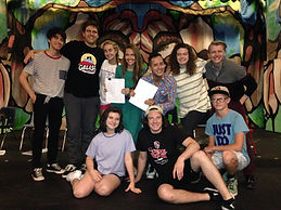 "Seth with the cast of th ""You're It!"" workshop at VYT"