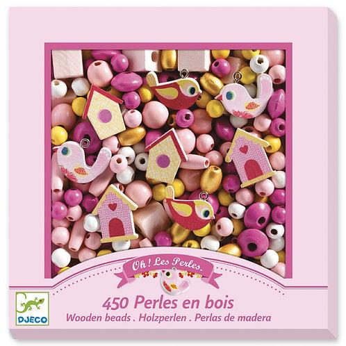 450 PERLES EN BOIS DJ09809