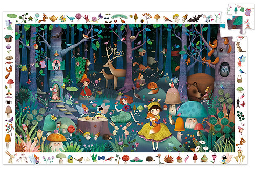 PUZZLE OBSERVATION FORET ENCHANTEE