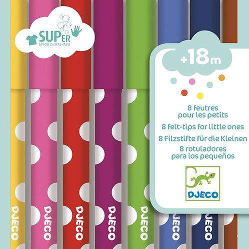 8 FEUTRES POUR LES PETITS   DJ09001