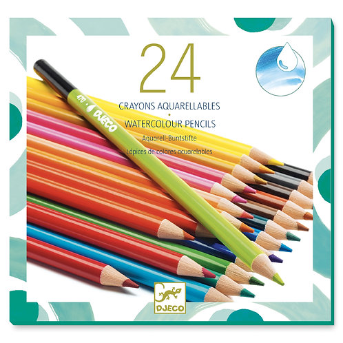 24 CRAYONS AQUARELLELLABLES