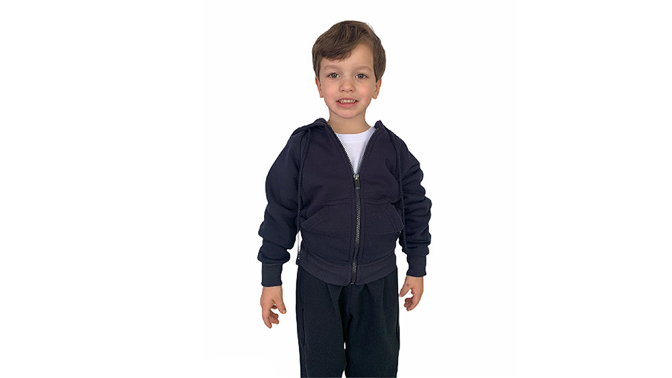 Sueter capucha infante/niño