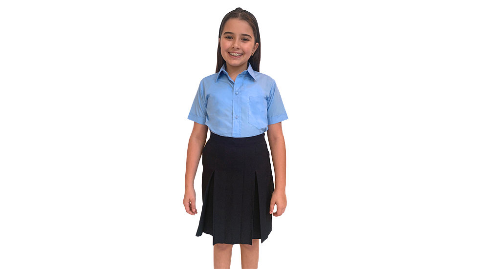 Camisa bachiller azul