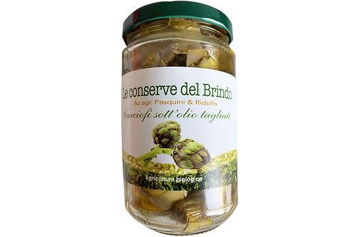 Luomu artisokat oliiviöljyssä