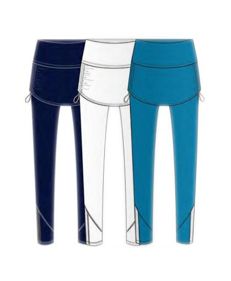 fad6d152ceaabd Lucky In Love - Boho Sense - Ruched Skirt Legging - White - CB253-110