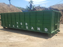 Short Roll of Bin Landscaping Materials, Soils, Mulch, Play-chip, Roll-off service around Escondido, California in San Diego County