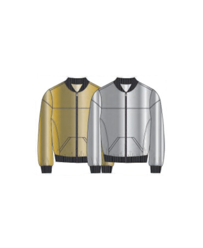 93160314d Lucky In Love - Go for the Metal - Metallic Bomber Jacket Gold - CT542-900
