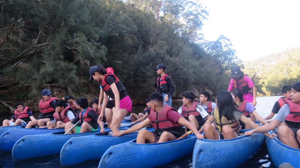 School camp Canoeing Sydney