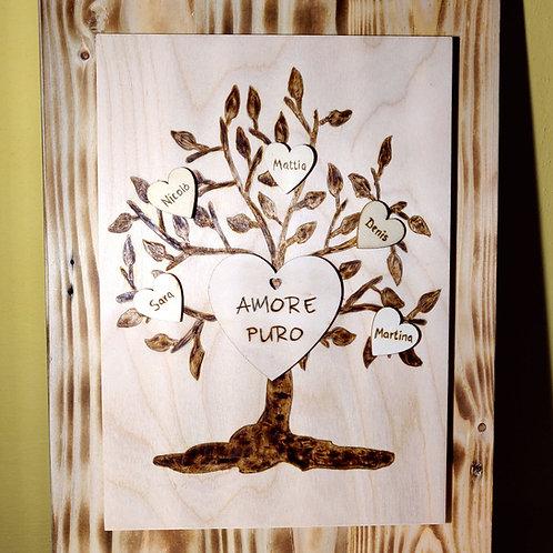 Albero della Vita, Quadro in legno