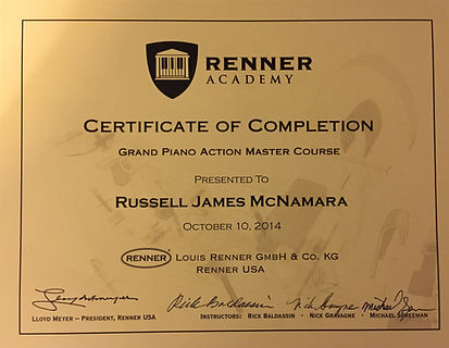 Russ McNamara- Piano Tuning in Cincinnati, and Dayton, Ohio