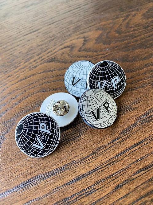 Globe Logo Pin