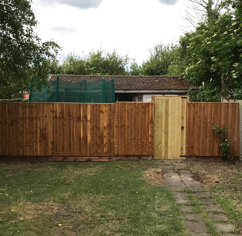 New fence & gate