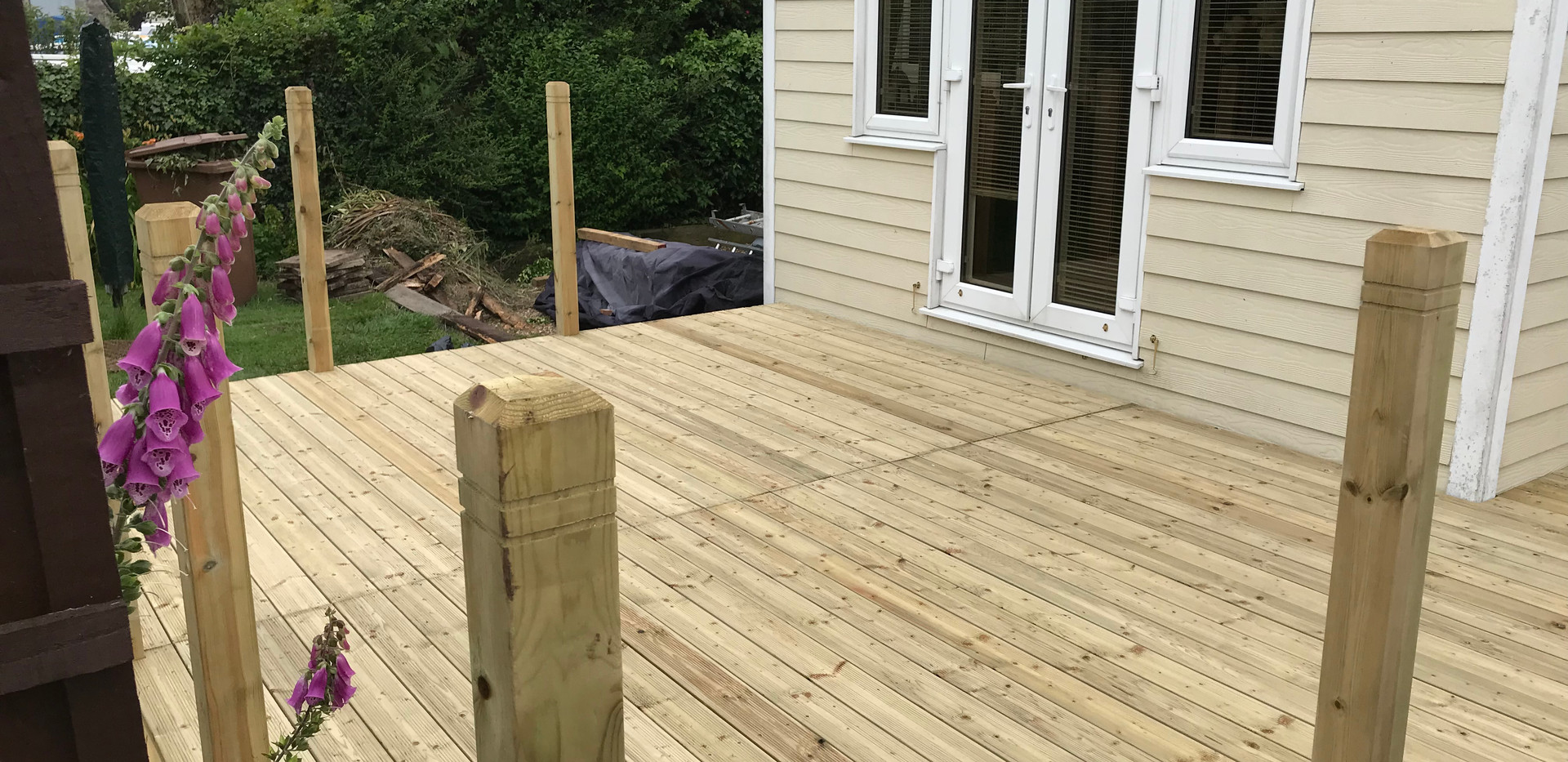 Riverside decking - after