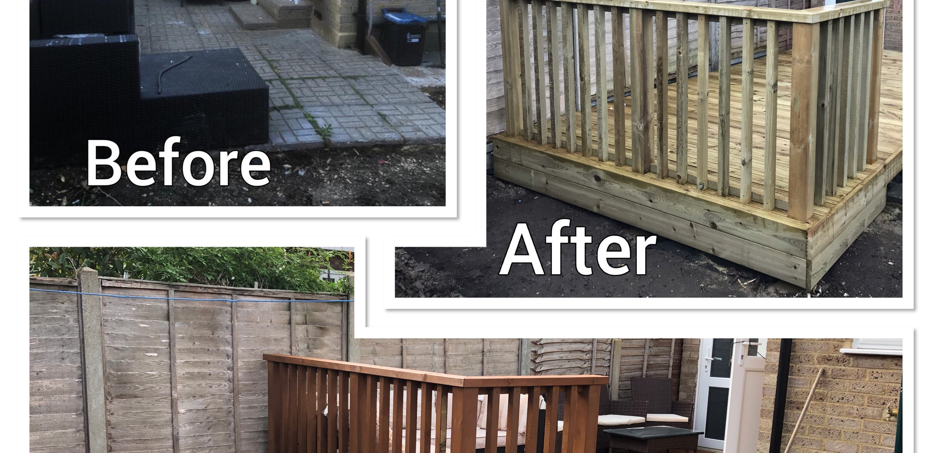 Sun deck - before & after
