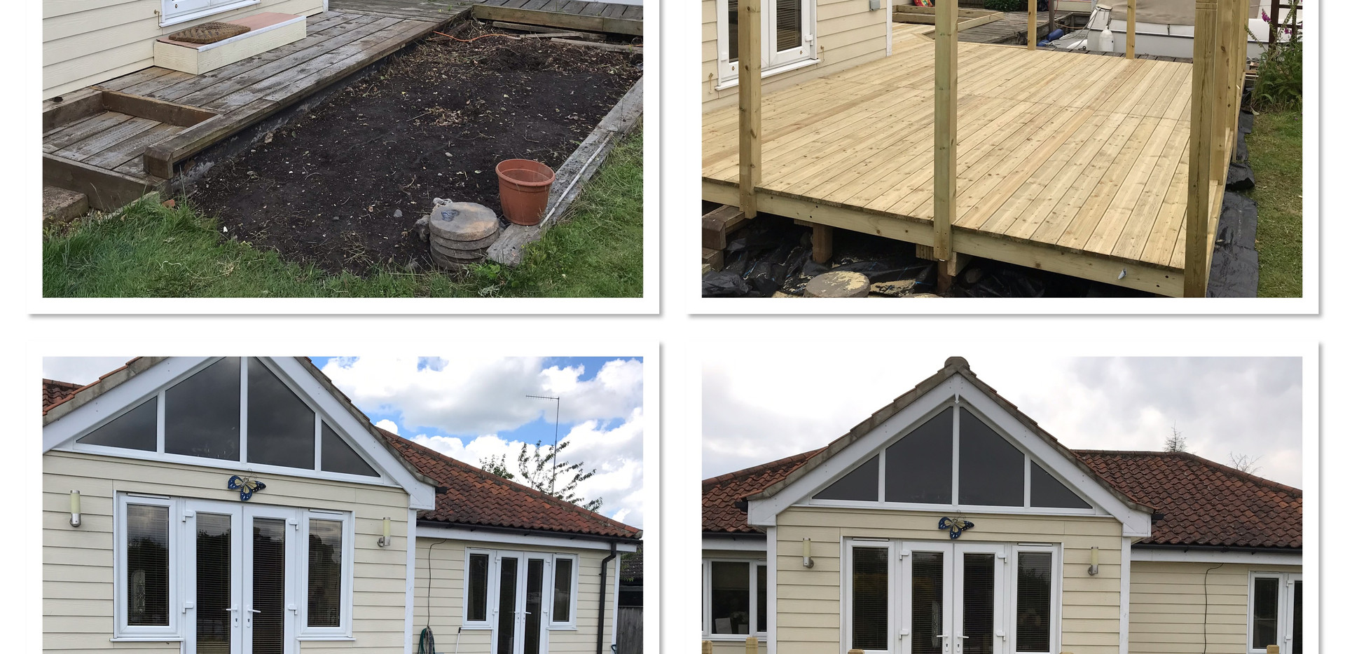 Riverside decking - before & after