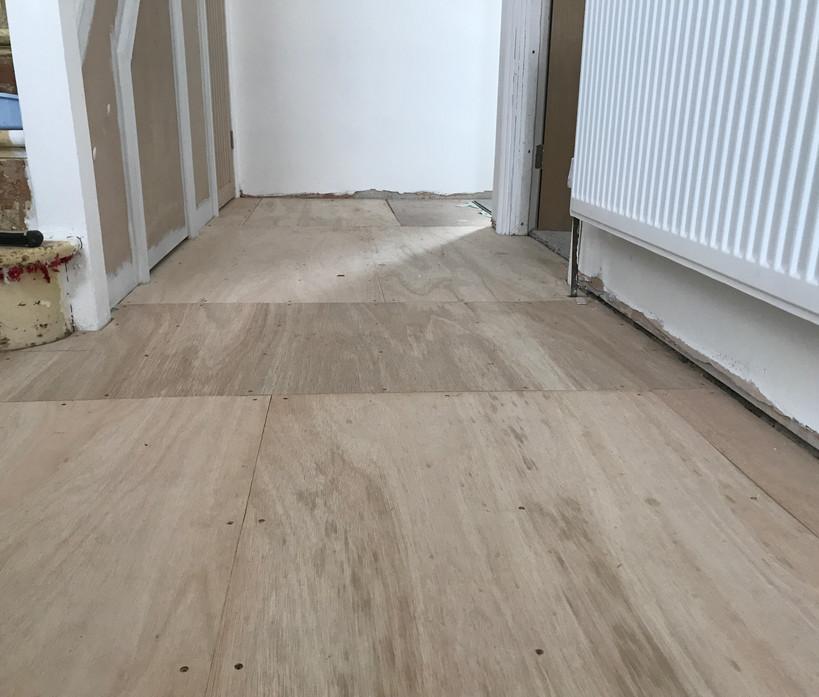 Laminate flooring - before