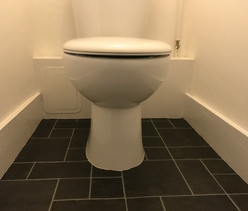 Toilet rear boxing in - painted