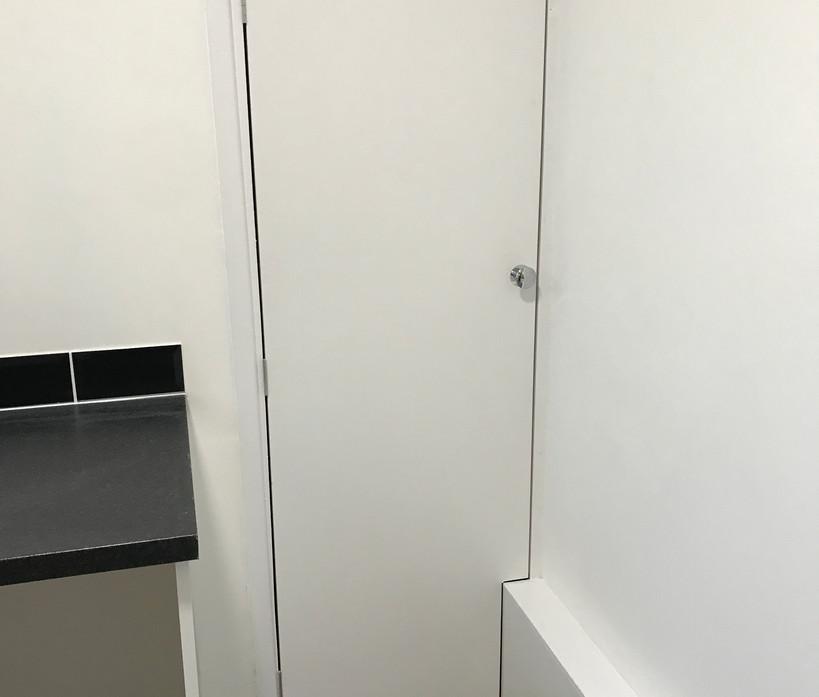 Bespoke boiler cupboard door - painted