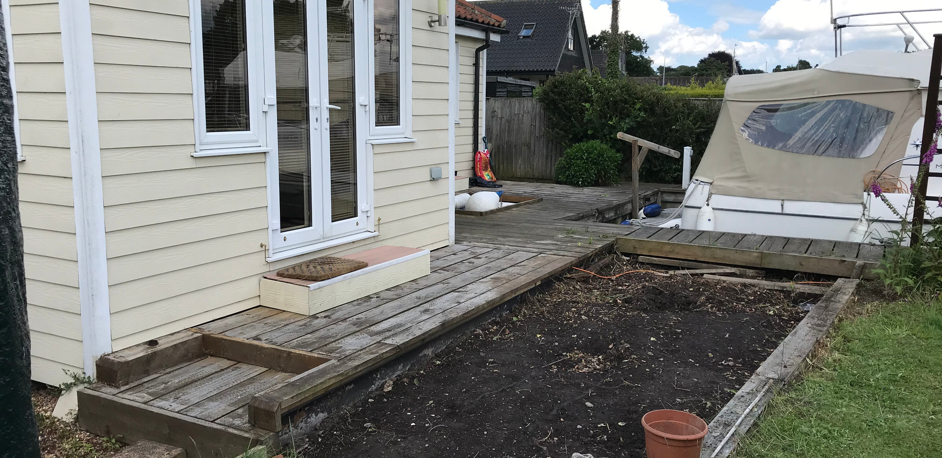 Riverside decking - before