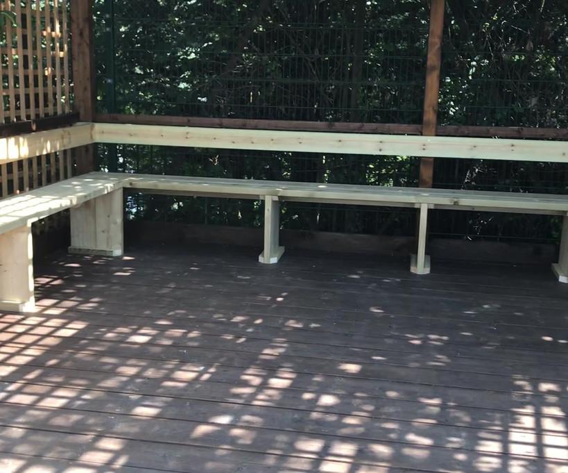 Outdoor gazebo seating video