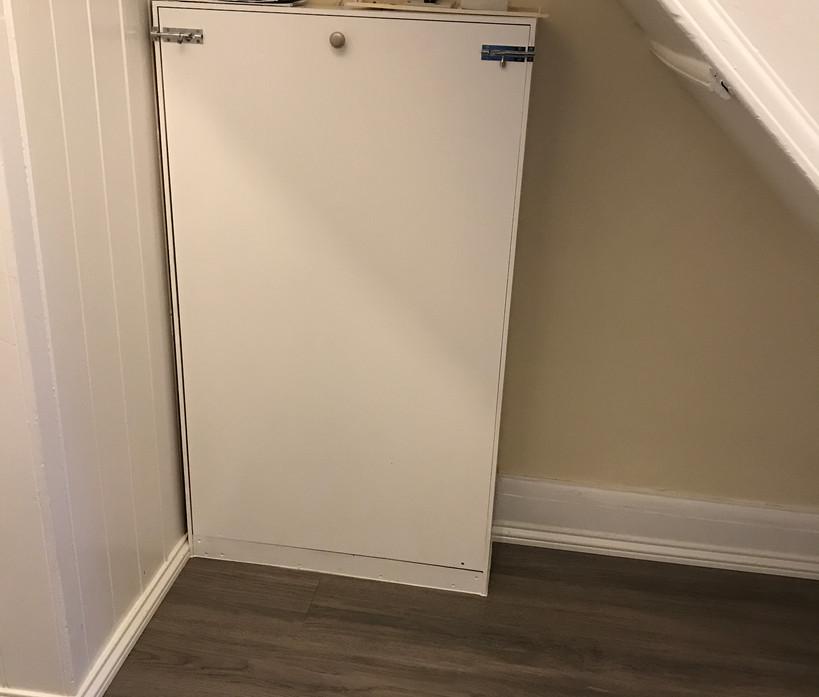 Custom meter cupboard - painted