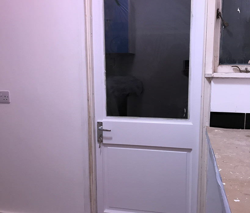 Another replacement door - wonky frame!