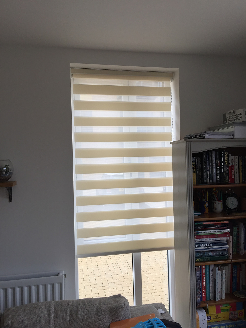 some night and day blinds in ivory fitted in hitchin