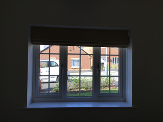 Project: Customer own fabric turned into Roman Blinds in Buntingford