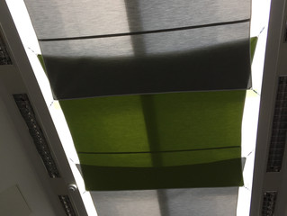 Project: Sail blinds in grey and lime