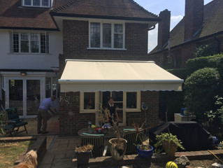 Project: An awning fitted in North London