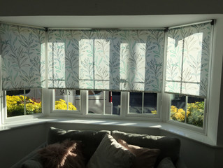 Project: Bay window of roller blinds