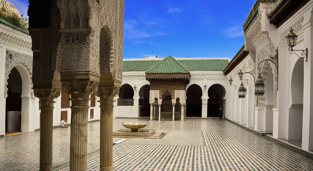The Oldest library in the world located at the Al-Qarawiyyin University in Morocco
