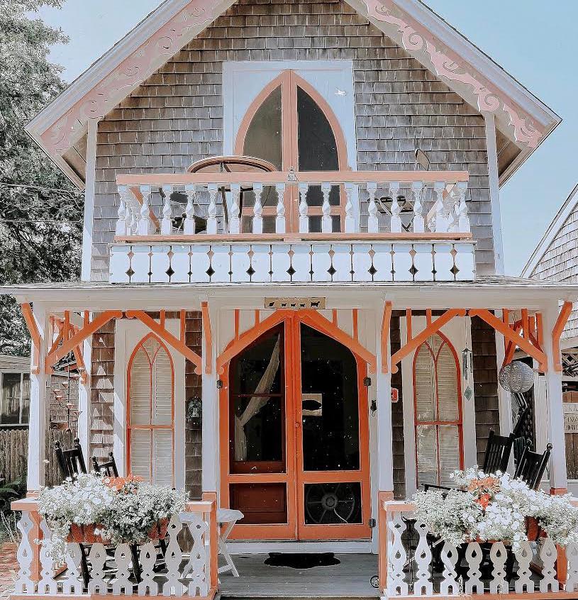 Peachy Ginger Bread House
