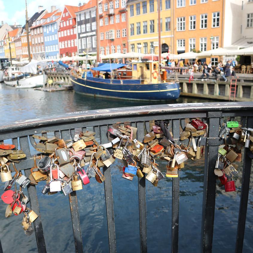 Locks of love near the canal