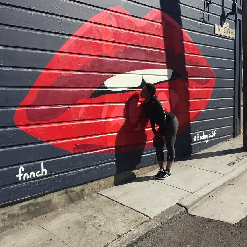 Lip mural