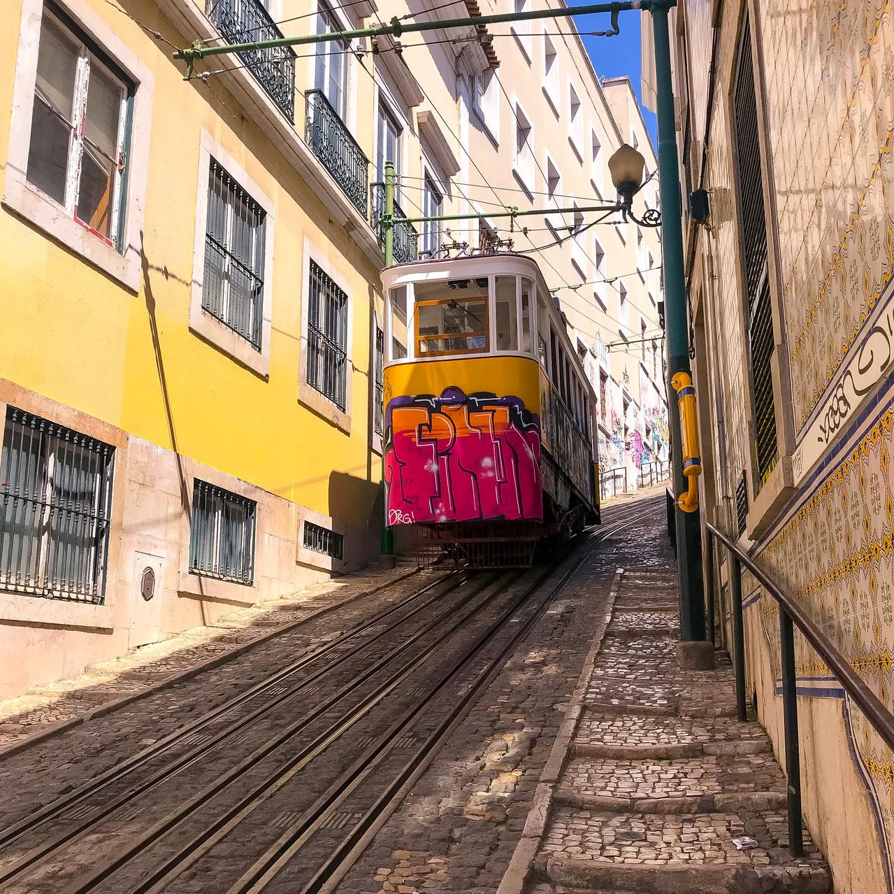 Trolley on a hill
